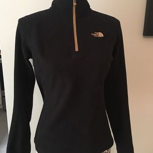 The North Face Sweaters - NORTH FACE Black half zip fleece Woman's Size S